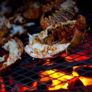 Lobster on grill